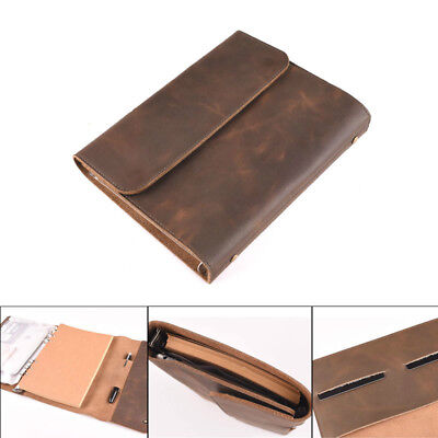 Handmade Leather Notebook Refillable Vintage Blank Diary Journal ipad Mini Cover