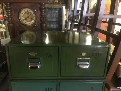 Vintage Mid Century Industrial Green Metal Digby Filing Cabinet Ti3550