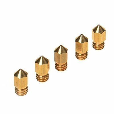 JOYSA 5PCS 3D Printer 0.4mm Extruder Brass Nozzle Print Head for MK8 Makerbot BY