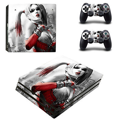 Playstation 4 PS4 Pro Console Skin Sticker New Harley Quinn + 2 Controllers