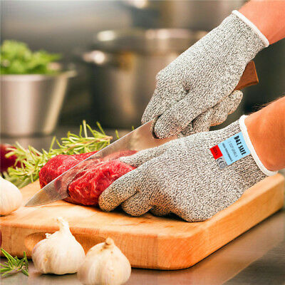 1/2/4 Pairs Safety Level 5 Cut Proof Resistant Stainless Steel Metal Mesh Gloves