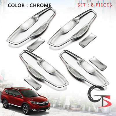 Door Handle Bowl Insert Inner Cover Chrome Fits Honda Cr-v Crv Suv 2017 - 2018