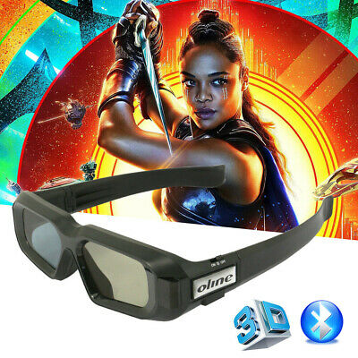 USB Rechargeable Active Shutter 3D Glasses Bluetooth for Samsung Epson/BenQ TVs