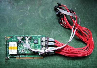 AMCC 9550SX-16ML SATA II PCI-X 16 Port RAID Controller + Cables, BBU, Battery