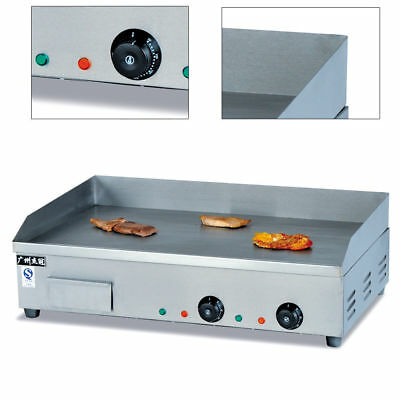 Commercial Stainless Steel Electric Griddle Flat Hotplate Grill BBQ 4.4KW 73cm
