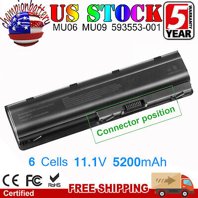 Long Life Notebook Laptop Battery 593553-001 for HP MU06 MU09 SPARE 593554-001