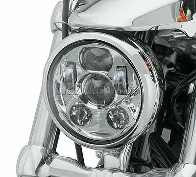 5.75 5-3/4 Chrome Daymaker Projector LED Headlight For Harley Dyna Sportster