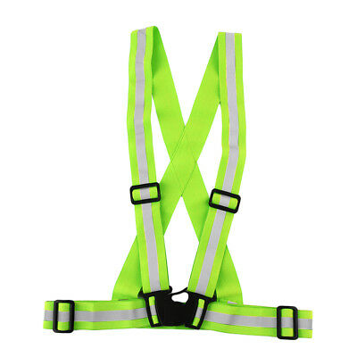 4cm Safe Reflective Elastic Vest Belt Outdoors Night Running Biking Safety AU
