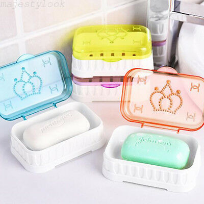 Soap Box Holder Case Dish Travel Plate Hiking Home Bathroom Washroom Shower