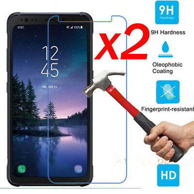 2Pcs 9H+ Tempered Glass Screen Protector For Samsung Galaxy S5 S6 S7 S8 Active !