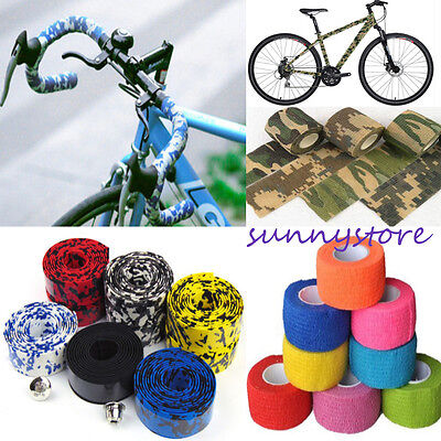 1PC Self-adhesive Handlebar Tape Bicycle Parts Bandage Camouflage Bike Decor DIY