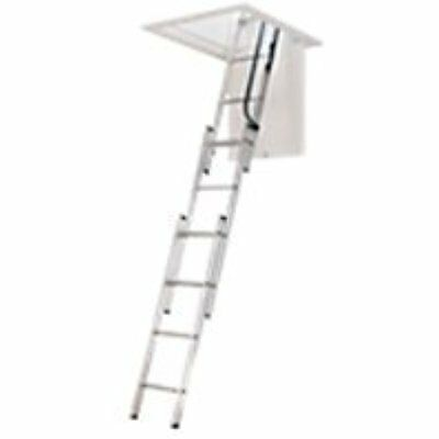 WERNER Ladders LADDER AA1510CA Al Attic Ladder, 7' 9'10""