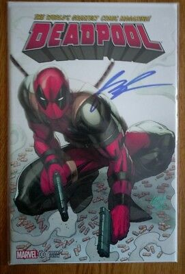 Deadpool Vol 4 Issue 1 Rob Liefeld Variant Signed Rob Liefeld at SDCC
