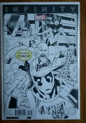 Mighty Avengers 1 Deadpool Sketch Variant