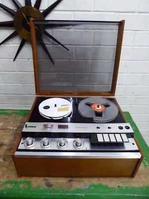 VINTAGE RETRO 1960s FERGUSON Solid State Stereophonic Reel to Reel Tape Recorder