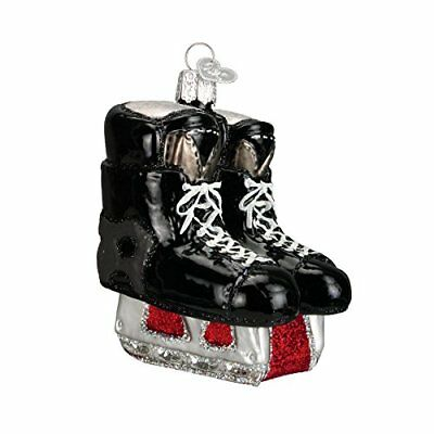 Old World Christmas Hockey Skates Glass Blown Ornament