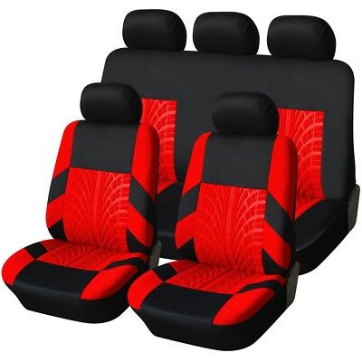 HEAVY DUTY BLACK & RED TRAX SEAT COVER SET for FORD FOCUS ST 06-10