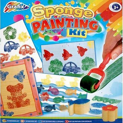 Sponge Painting Kit Paints For Kids Paint Sponges Rollers Gifts For Kids