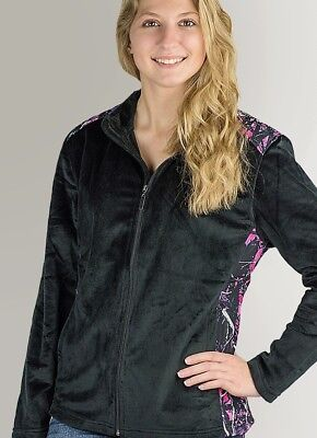 Muddy Girl Camo Pink Purple Black Fleece | Womens Full Zip Jacket