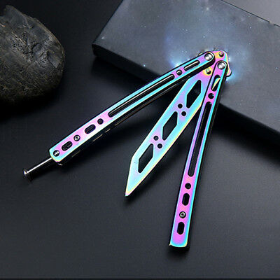 New Practice Butterfly Knife Training Trainer Balisong Metal Steel Dull Tool