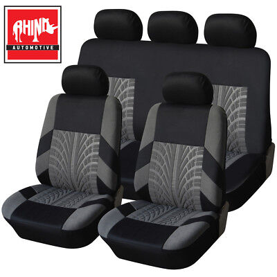 Vw Volkswagen Cady Maxi Camper 13-On Heavy Duty Black & Grey Trax Seat Cover Set