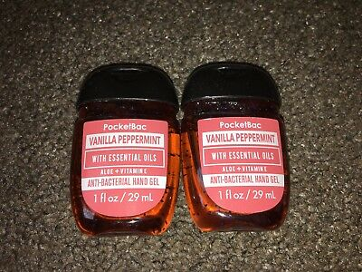 Bath & Body Works 2x Anti-Bacterial Hand Gel USA Exclusive Vanilla Peppermint