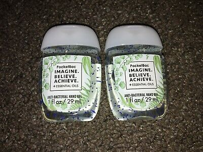 Bath & Body Works 2x Anti-Bacterial Hand Gel USA Exclusive Imagine Believe Achie