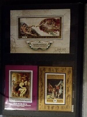 stamps collection in albums