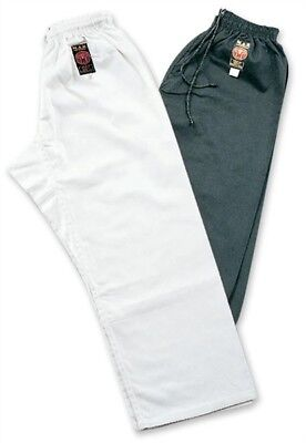 MAR Karate Trousers Martial Arts Training Bottoms Black and Whit Adult Sizes