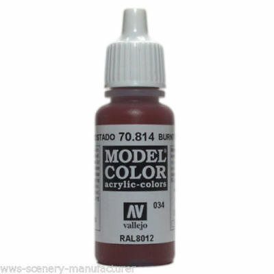 Vallejo Model Color Colore Acrilico Burnt Cad. Red Rosso Bruciato  70814  -  034