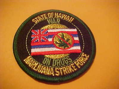 Hawaii State Drug Task Force Police Patch New  3 X 3 Inch