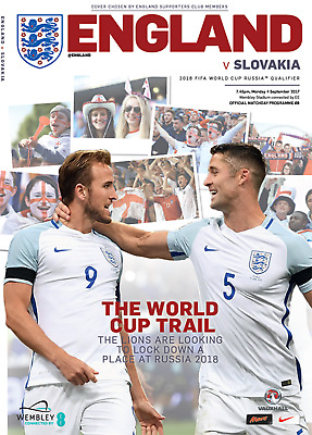 ENGLAND v Slovakia (WCQ) 2017 - INCLUDES England 'World beaters' supplement