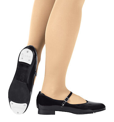 Theatricals Dance Shoes Tap Black Mary Jane Buckle Patent Leather Girl Child 9 M