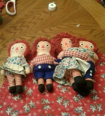 Vintage Set Of Raggedy Ann And Andy
