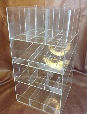 4 Tier Clear Acrylic Lucite Retail Counter Shelf Store Accessories Display