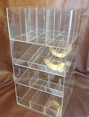 Retail Counter Display 4 Tier Clear Acrylic Lucite  Shelf Store Accessories