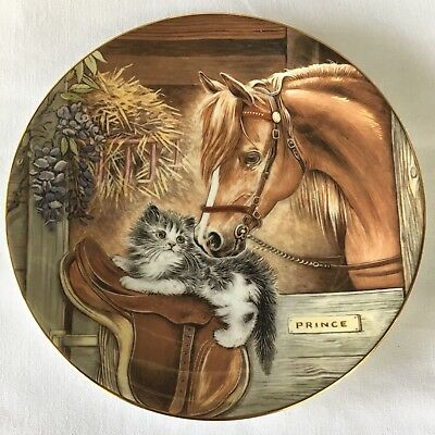 "Royal Worcester Bone China Plate ""STABLEMATES""  by Pam Cooper - NEW in BOX Nice!"