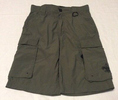 Boy Scouts BSA Cargo Shorts Centennial Uniform Nylon Green Youth Large L