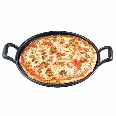 TableCraft CW30118 Heavy Duty Cast Iron Pizza Pan, 13.5-Inch Commercial Grade