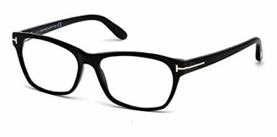 772bb7171712b TOM FORD Women s TF 5405 001 Shiny Black Clear Butterfly Eyeglasses 54mm