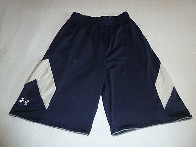 Under Armour Men's Size Medium Shorts - Navy Blue, Gray, and White