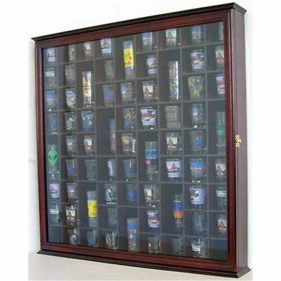 71 Storage Cabinets Shot Glass Display Case Rack Holder Wall Cabinet,  Mahogany