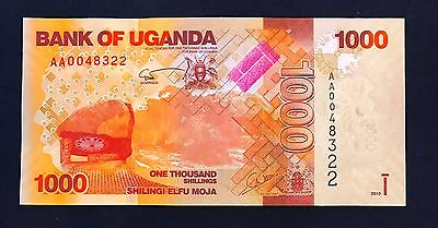 Uganda 1000 shillings 2010 Monument in Brown & Orange - P49 - UNC
