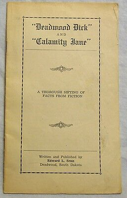 Scarce 1939 Pamphlet Deadwood Dick and Calamity Jane A Thorough Sifting of Facts