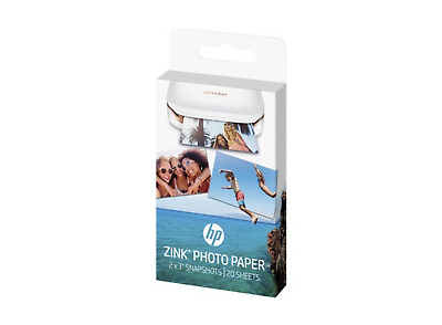 "New HP Sprocket Zink Sticky-backed 2"" x 3"" 20 Photo Paper W4Z13A"