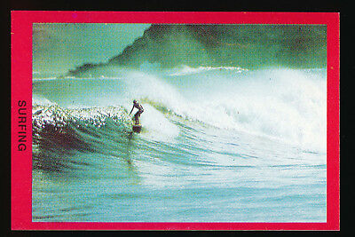 1973 Sunblest Sports Action Tip Top Bread Surfing card r