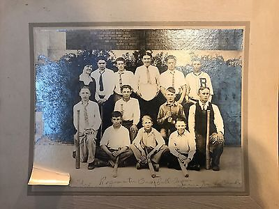 Rosemater Early 20th Century Baseball Team Antique Photograph Woman Coach
