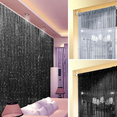 String Door Curtain Room Divider Crystal Beads Window Panel Wedding Home Decor