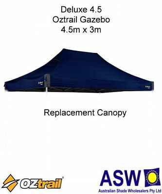 4.5m x 3m BLUE DELUXE 4.5 Replacement GAZEBO CANOPY Oztrail Reinforced Roof Mega