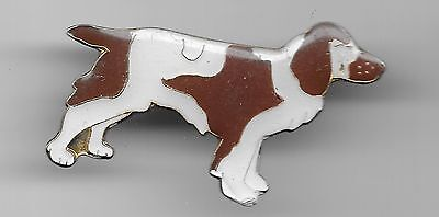 Vintage Welsh Springer Spaniel Dog old enamel pin